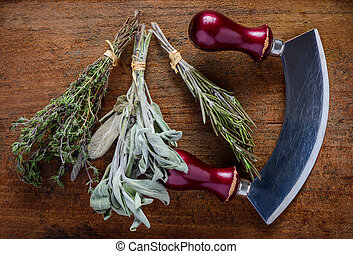 Thyme, Sage and Rosemary Herbs