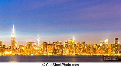 Newyork mid town at dusk