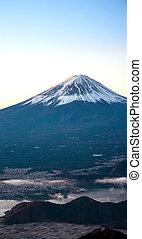Mountain Fuji sunrise Japan panorama - Mountain Fuji in...