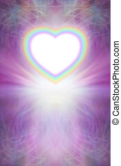 Beautiful Rainbow Heart Background - Intricate pink and...