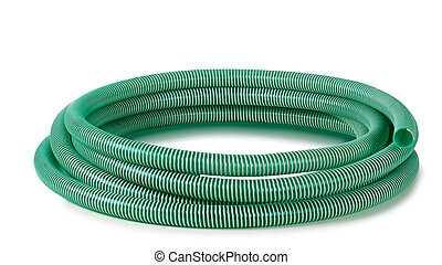 reinforced hose on white background