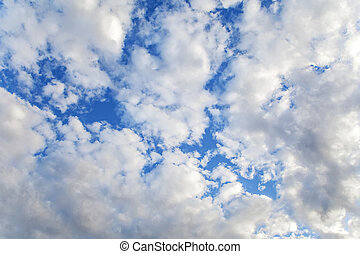 Altocumulus Cloud in blue sky on sunny peaceful day.