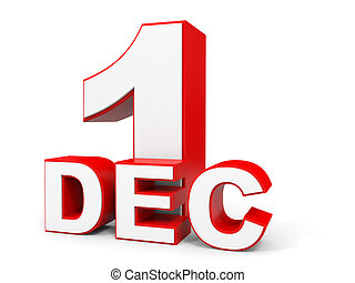 December 1st Clip Art