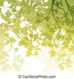 Spring Background - A white and green spring themed...