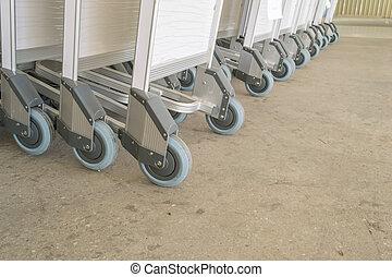 luggage carts at airport