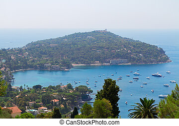 cote dAzur, France - Cap-ferrat and turquiose water of cote...