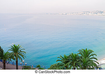 cote dAzur, France - habour of Nice and cote dAzur coast...