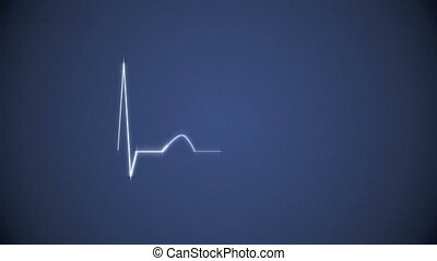 Cardiogram Background in Blue - Abstract Heart Beat...