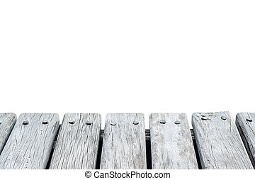 old wood floor with white background