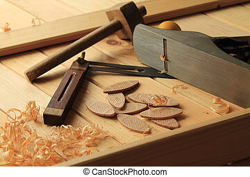 Carpentry and Joinery tools.