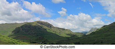 Little Langdale Valley in the English Lake District Cumbria.