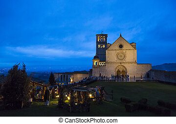 Cathedral of St Francis of Assisi - Night view of the...