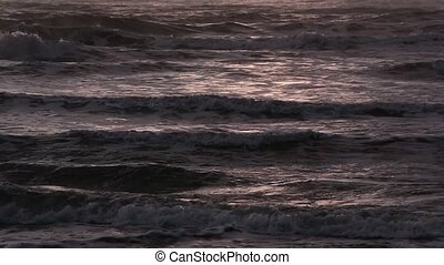 Sea Evening Surf. Nature Background - Sea evening surf...