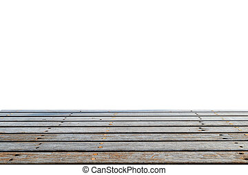 wood floor with white background