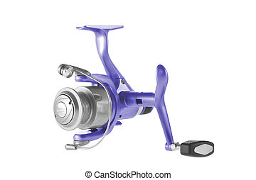 isolated object on a white background fishing reel - Image...