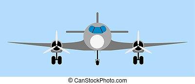 Passenger airliner illustration