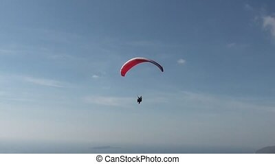 Parachute sliding close up - Parachute sliding with two...