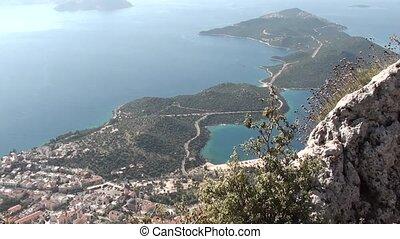 Panorama of Kas Turkey, top view