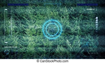 Drone POV Flying Over Forest - Drone flight computer...