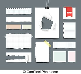 Big collection of office paper
