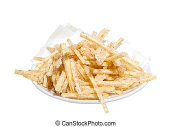 taro - Fried taro chips with sugar, Taro Thai snacks