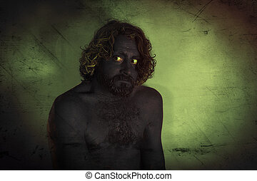Demon Monster Beard - Demon monster man with beard and...