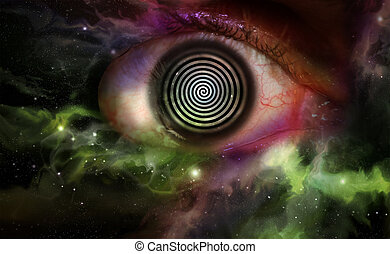 Hypnosis Swirl Universe - Psychedelic hypnosis swirl...