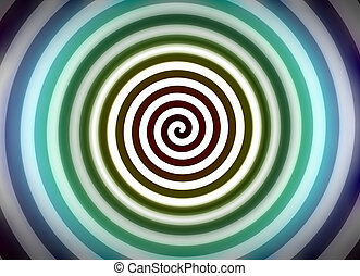 Hypnosis Swirl - Psychedelic hypnosis swirl background...