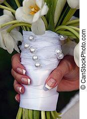 flores, usado, casamentos