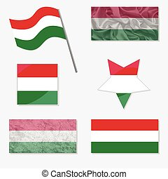 Set with Flags of Hungary