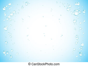 Blue water drops background3