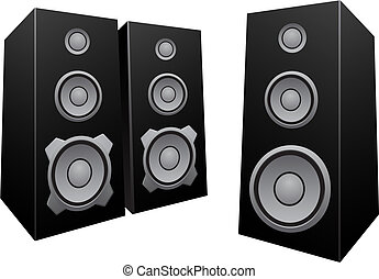 Black abstract speakers
