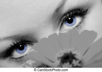 A concept photo closeup of a lovely woman with beautiful...