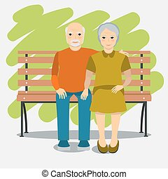 Elderly couple and healthy lifestyl