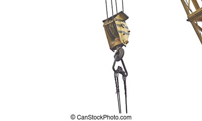 crane lifting force for construction industry video