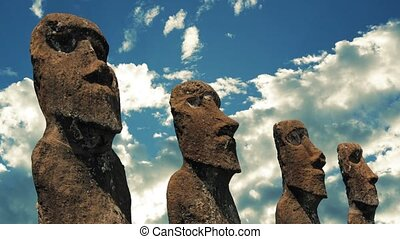 Easter Island Statues - Easter Island huge aboriginal...