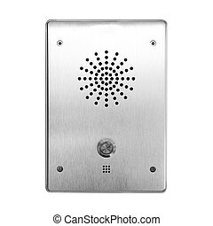 Emergency alarm button - Isolated on a white background...