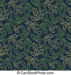 Oak leaves pattern - Decorative pattern with oak leaves