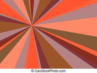 Rays Radius Background Orange Vector Illustration