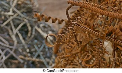 metal rusty shavings texture mountain background - metal...