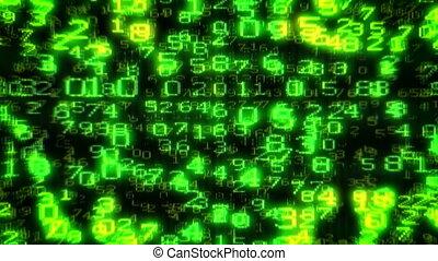 Cyber UK Flag - Digital Data Matrix