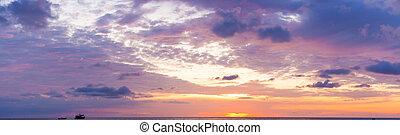 Ocean sky scape sunset - Ocean sky scape calm sunset nature...