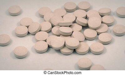 Lots Of Vitamin Pills Rotating
