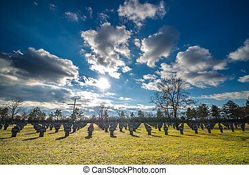 Military Cemetery and clouds
