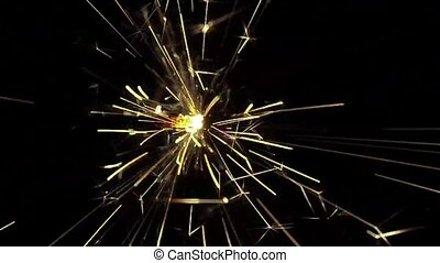Sparkler fireworks on a dark background
