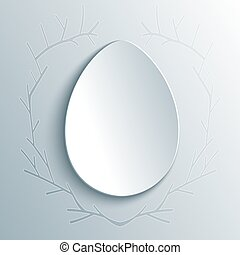 Vector egg concept in branch frame. - Vector egg concept in...