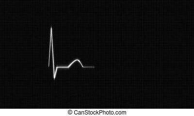White HeartBeat Cardiogram - Abstract HeartBeat Cardiogram...