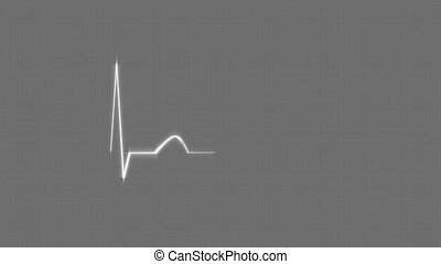 Gray HeartBeat Cardiogram - Abstract HeartBeat Cardiogram on...