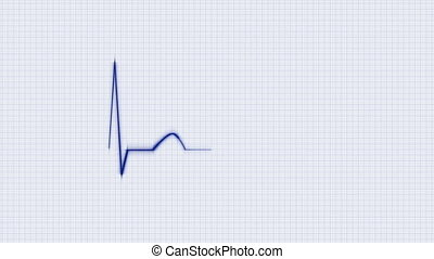 Blue HeartBeat Cardiogram - Abstract HeartBeat Cardiogram on...