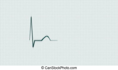 Green HeartBeat Cardiogram - Abstract HeartBeat Cardiogram...